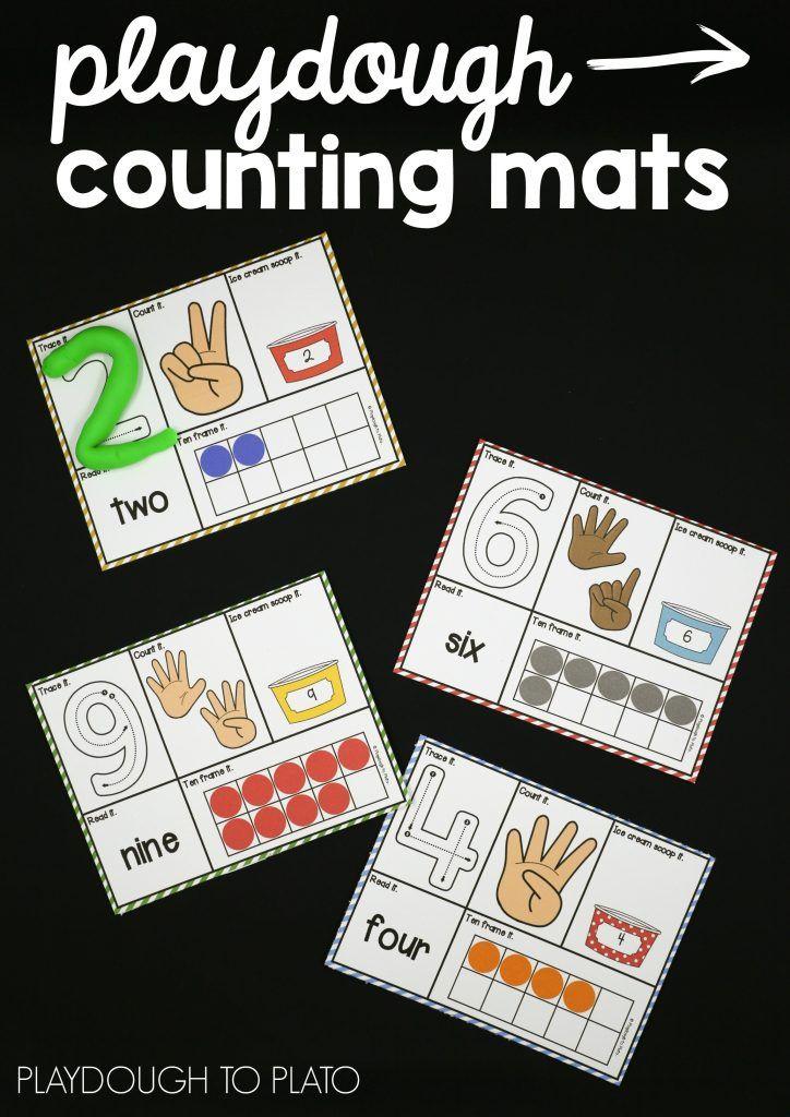Playdough Mats Numbers Preschool Playdough Activities Math