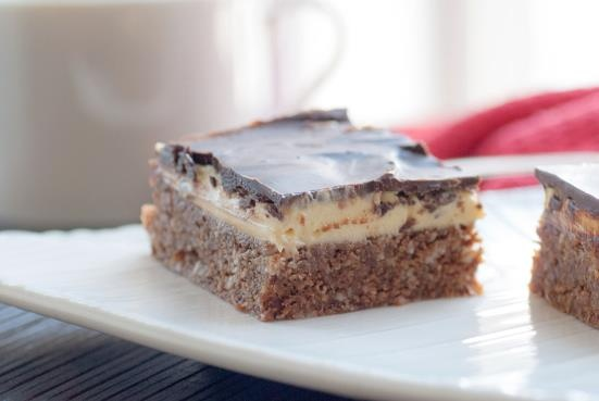 Nanaimo Bars  Makes one 8″ square pan  https://www.facebook.com/NewfieChatterBox