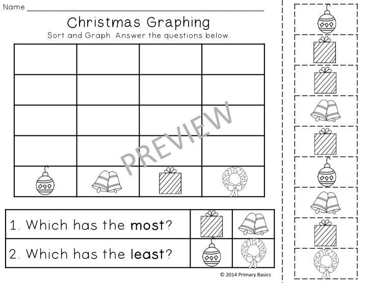 20 Christmas Worksheets for Kindergarten - Common Core Aligned