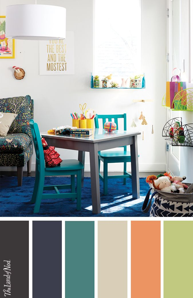 25 best playroom color scheme ideas on pinterest pink Land of nod playroom ideas