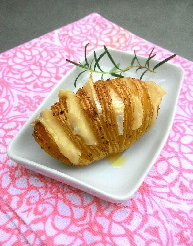 Batatas à Hasselback (batatas laminadas à moda sueca)