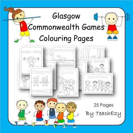Commonwealth Games Colouring Pages Jnr