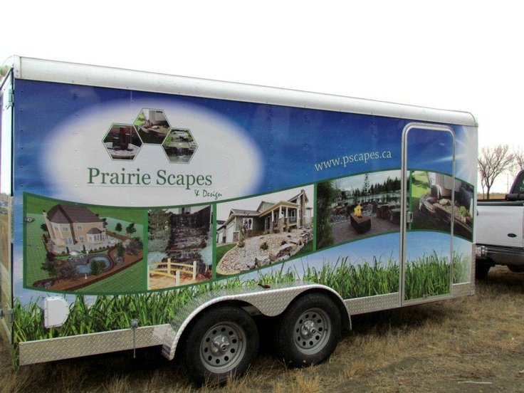 Prairie Scapes & Design vehicle wrap