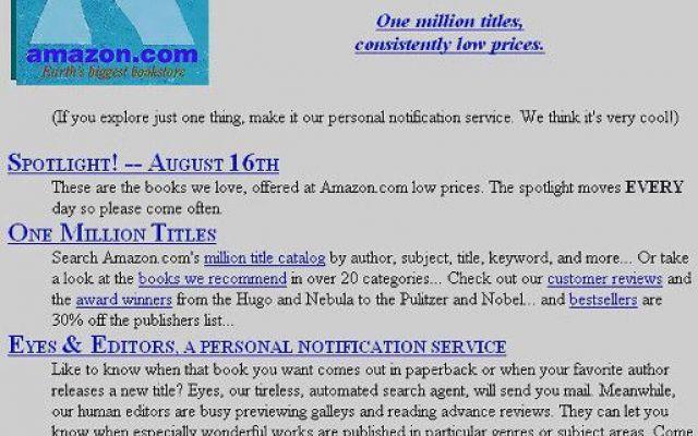 I vagiti dei grandi: ecco come erano le homepage dei siti web più noti Nessuno poteva immaginare come sarebbero diventati, e quanti miliardi di click sarebbero poi riusciti a intercettare. E a riguardarle ora, fanno un po' sorridere. Sono i siti delle aziende che hanno