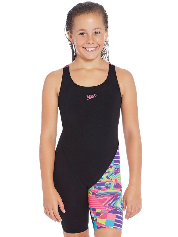 Speedo Psycho Tribal Girls Kneelength 1