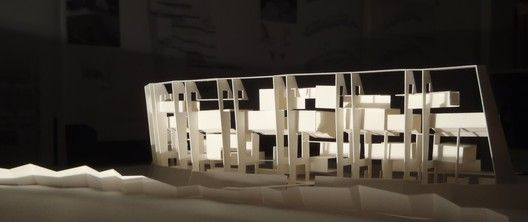 Venice Biennale 2012: Architecture as New Geography / Grafton Architects, Silver Lion Award,Model of the new campus building for UTEC - the Universidad de Ingenieria & Tecnologia in Lima, Peru - Courtesy of Grafton Architects