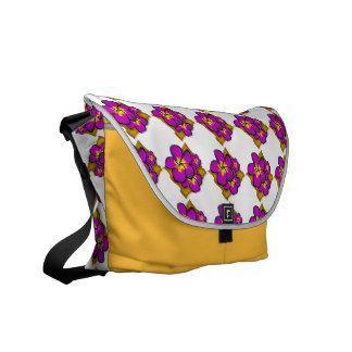 Purple Frangipani Messenger Bags