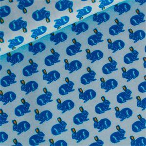 Popeline+-++Rabbit+-+blau+-++weicher+Baumwollstoff+von+rauffaser.de+auf+DaWanda.com