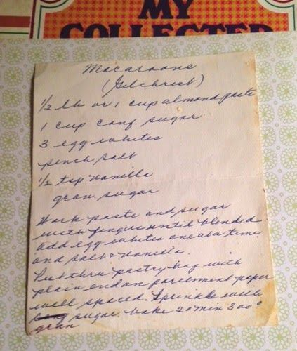 Old New England Recipes: Gilchrist's Macaroons Recipe Boston, MA