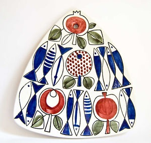 Rorstrand - wal plaque - 1950's fish design