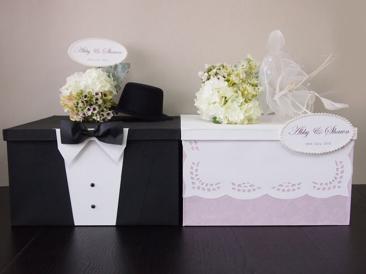 How Much Money Gift Wedding: Pegeo Wedding Money & Gift Cards Box Set For Bride & Groom