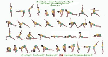 Moon Salutations Cheatsheet - Yogahealer