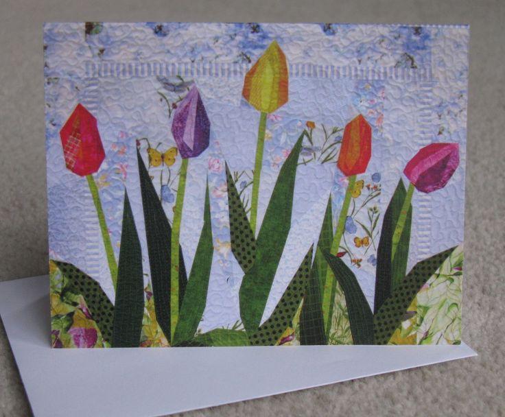 Art Quilt Card voorjaar schoonheden van TerryAskeArtQuilts op Etsy