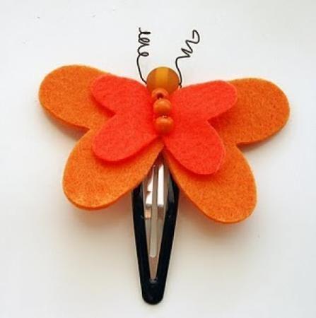 spilla per capelli a farfalla spilla feltro,pannolenci cucito,intaglio