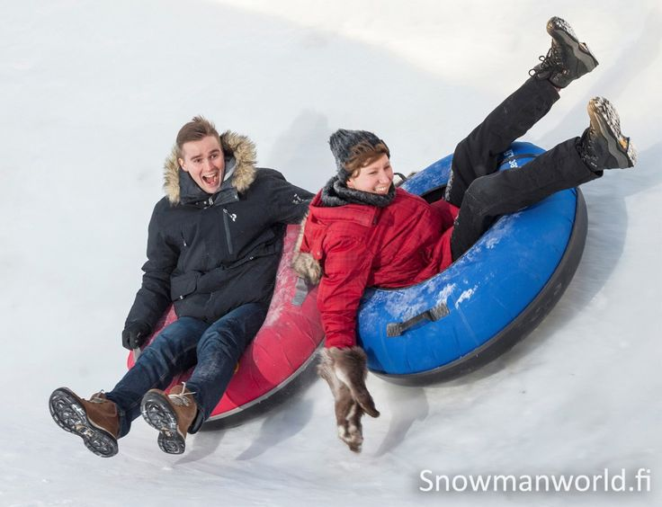 Snow fun in Snowman World in Santa Claus Village in Rovaniemi on the Arctic Circle