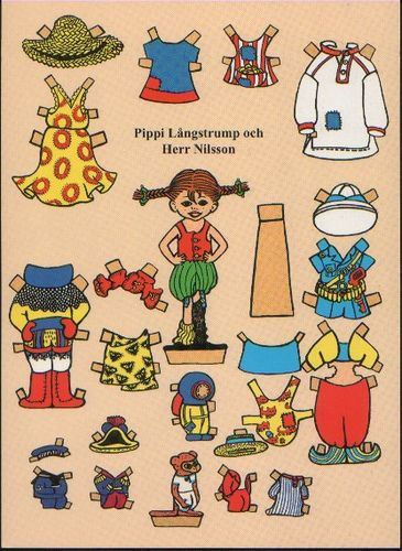 Pippi Longstocking Paper Dolls!!! Are you serious!!!!!?!?? I LOVE IT!!!!! <3 <3 <3 <3 <3