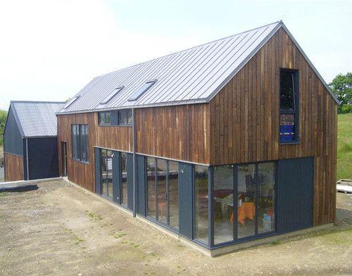 Les 25 meilleures id es concernant bardage bois vertical for Ouverture toit maison