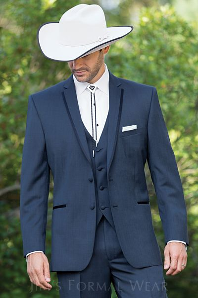 Aspen Slate Blue Slim Fit Western Tuxedo  www.momentstotreasurebridal.com (425)463-6021