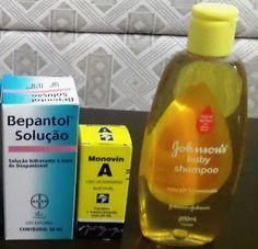 """Conheça o shampoo """"bomba"""" e saiba como fazer em casa O chamado shampoo """"bomba"""" é uma mistura de vitaminas (monovin A e bepantol) que promete ajudar"""
