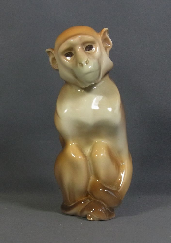 Nymphenburg porzellanfigur affe theodor k rner 1930 figurine monkey porcelain figurines - Gorilla figurines ...