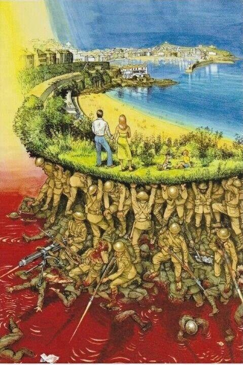 Devastatingly beautiful piece of art. While you bitch about you kids annoying you, don't forget our soldiers who'd give anything to hold their own instead of fighting in the giant sandbox!