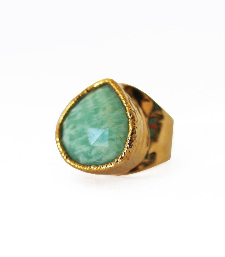AMAZONITE cuff ring