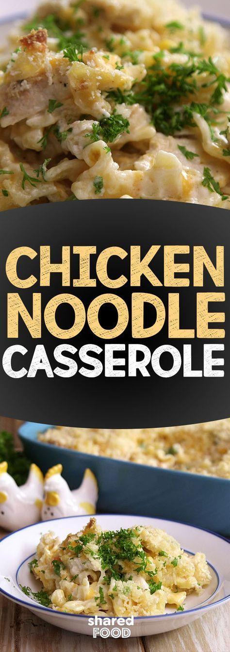 Chicken Noodle Casserole Recipe – Shared.com #casserole #chicken #noodle #recipe…