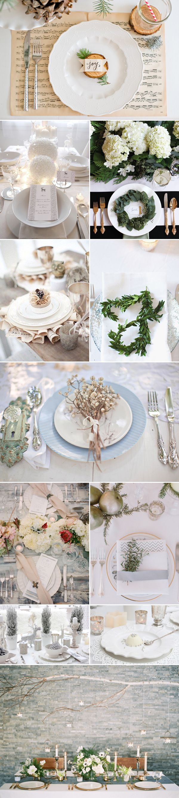 20 Winter Wedding Place Setting Ideas