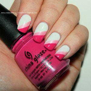 white-metallic-pink-and-bright-pink-stripe-nail-art.jpg 300×300 pixels