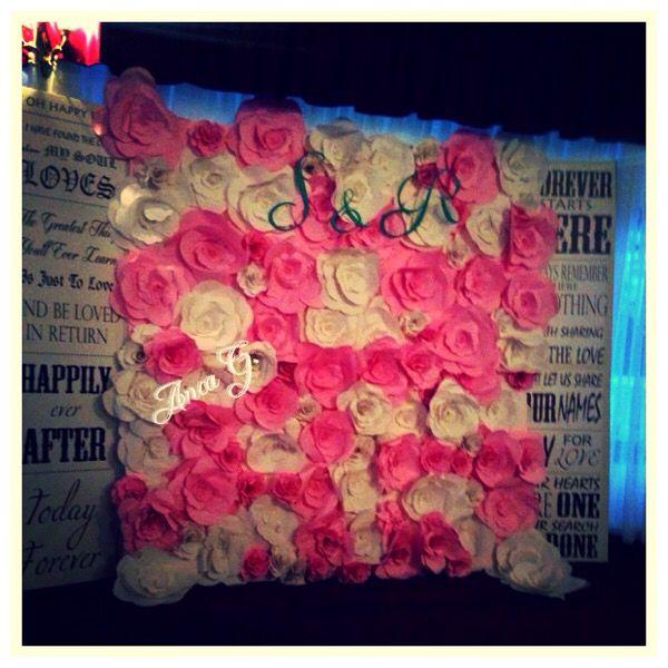 Panou cu flori din hartie !!!