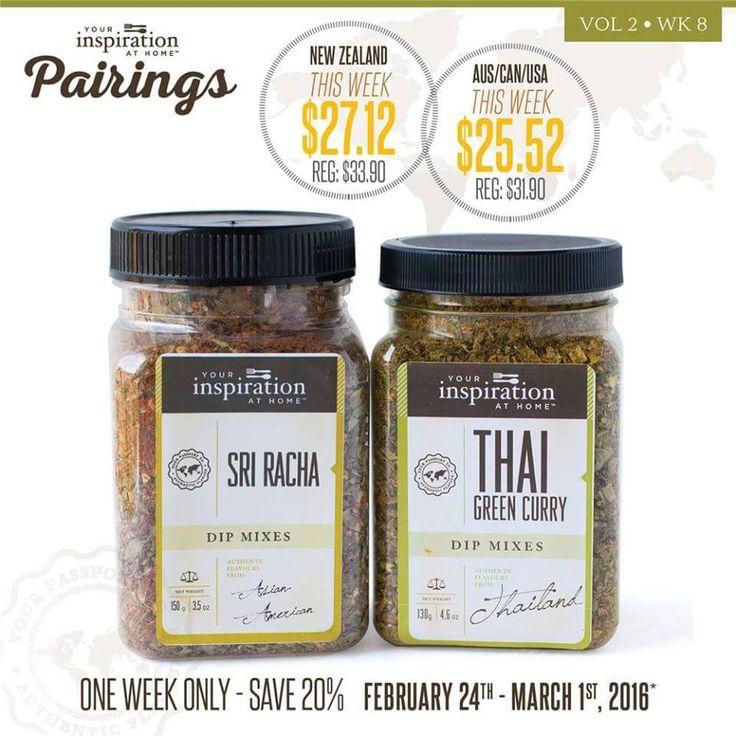 YIAH's Weekly Pairing - Sri Racha & Thai Green Curry Dip Mixes - $27.12 until March 1st