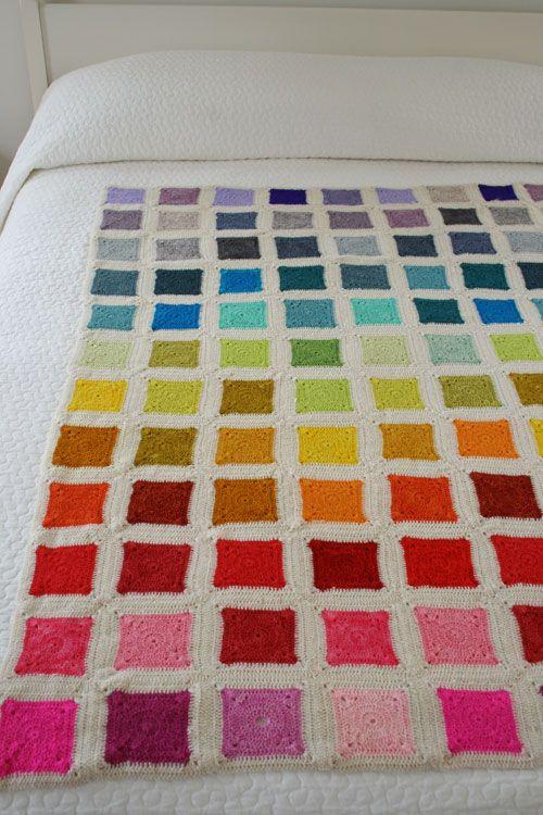 Whit's Knits: Bear's Rainbow Blanket