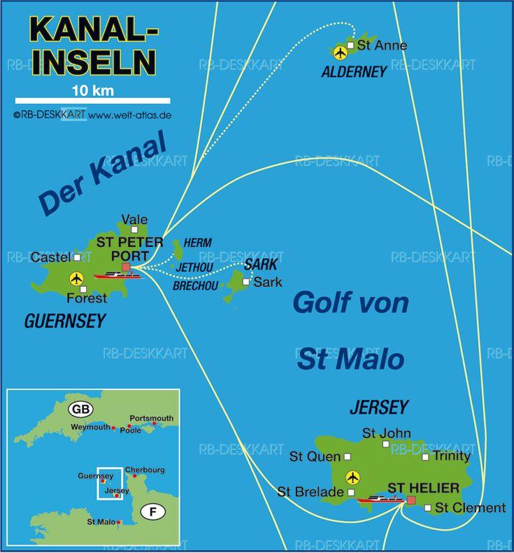 kanalinseln karte im Kanalinseln Reiseführer http://www.abenteurer.net/3819-kanalinseln-reisefuehrer/