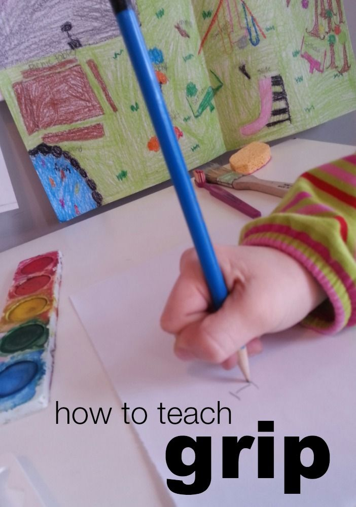 First Steps to Writing: Teach Grip From infants to preschoolers, writing prep should start early!