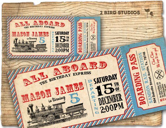 Train Invitation Train Ticket Birthday Party Invitation Etsy In 2021 Train Ticket Invitations Ticket Invitation Birthday Train Invitation