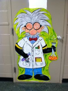 I like the face of this mad scientist better than the one we're planning to put on the bulletin board. Use the idea we have but this guy's face