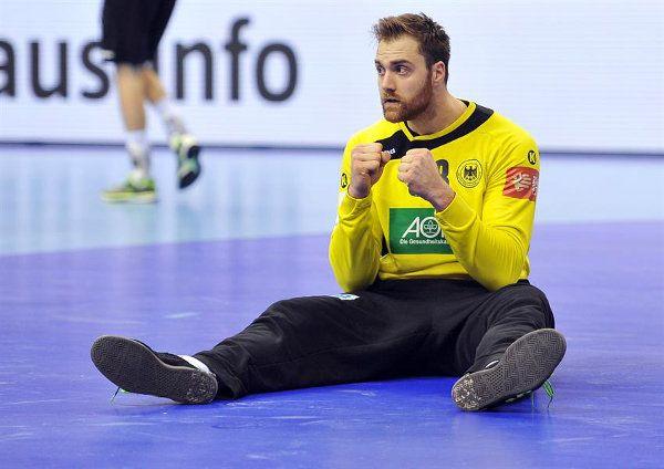 """Handball EM Qualifikation: Deutschlands """"bad boys"""" """"setzen Sieg-Zeichen"""" gegen Portugal. Handball EM Qualifikation: Die deutsche Handball-Nationalmannschaf ..."""