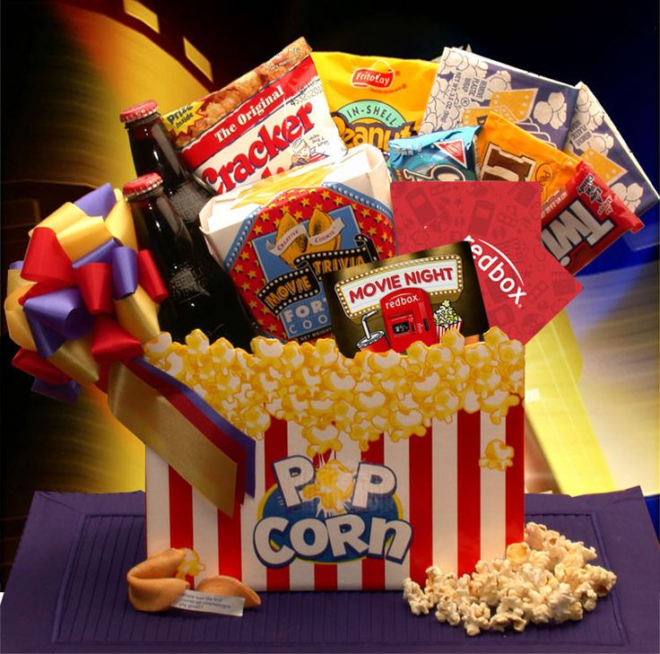 Movie madness redbox gift basket homemade gift baskets