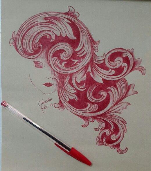 Attesa Bic rossa su carta seppia