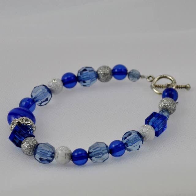 Untamed Crafts royal blue European bracelet - 3113