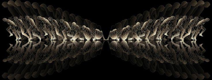 « L'algorithme de Babel » - impression numérique sous plexiglas - 105 cm x 40 cm - 2010