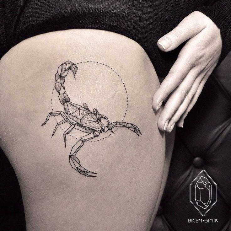 Dotwork scorpion tattoo