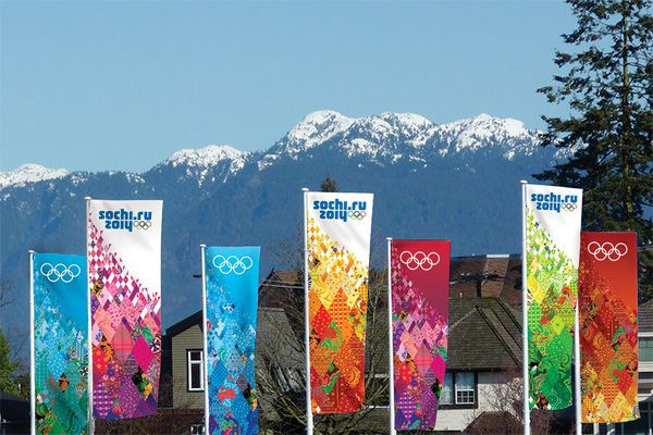 Branding for the 2014 Winter Olympics in Sochi.  Add Around The Rings on www.Twitter.com/AroundTheRings & www.Facebook.com/AroundTheRings for the latest info on the Olympics.