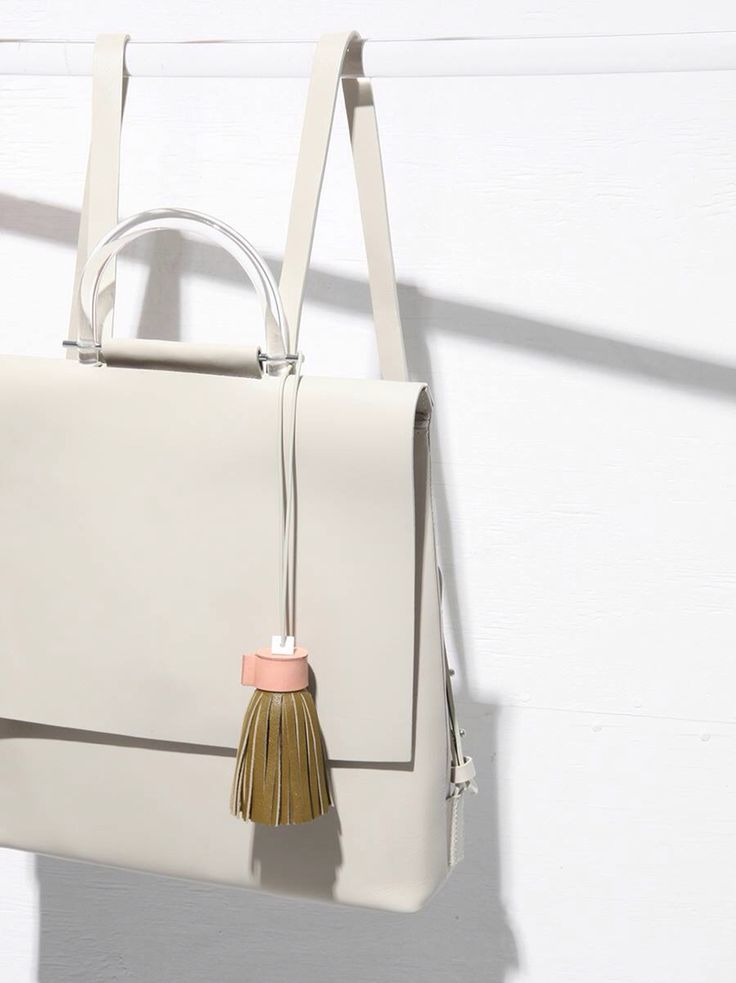 Minimal Backpack with tassel detail; chic accessories // Building Block