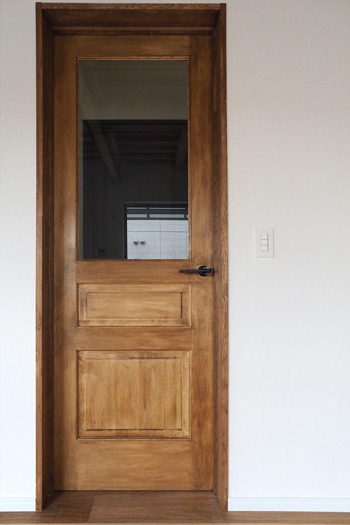 カラー塗装 木製ドア