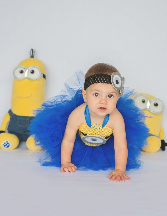 Minion tutu dress costume. Hey, I found this really awesome Etsy listing at https://www.etsy.com/listing/280797096/minion-costume-minion-tutu-dress-minion