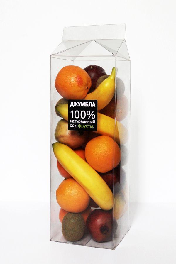 Juice Package by Anna Mkrtchyan, via Behance. Increible parece que puedes tocar la fruta