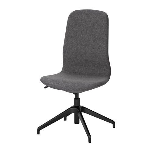 Ikea ergonomic office chair Steelcase Leap Ikea LÅngfjÄll Swivel Chair Gunnared Dark Greyblack An Ergonomic Office Chair With Lightly Curved Lines Attention To The Sewn Details And An Pinterest Ikea LÅngfjÄll Swivel Chair Gunnared Dark Greyblack An Ergonomic
