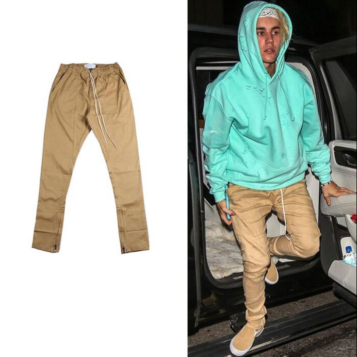 Find More Casual Pants Information about M 2XL chinos trousers jogger urban clothing mens jumpsuit men justin bieber khaki zipper dress pants casual fashion fear of god,High Quality dress candle,China dress pants short men Suppliers, Cheap dress pants material from Big head Big idear on Aliexpress.com