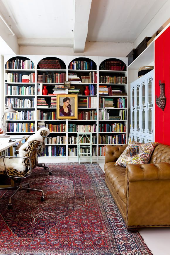 Make Bookcases Look BUILT-IN By Adding a Molding at the Top!